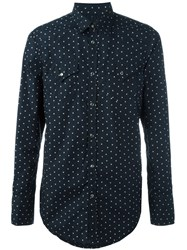 Dsquared2 Flower Design Shirt Blue