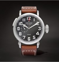 Zenith Pilot Type 20 Gmt Stainless Steel And Leather Watch