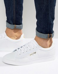 Fred Perry Spencer Knit Leather Trainers White