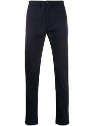 Department 5 Tailored Straight Leg Trousers Blue