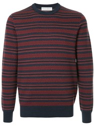 Gieves And Hawkes Classic Crew Neck Pullover Wool Blue