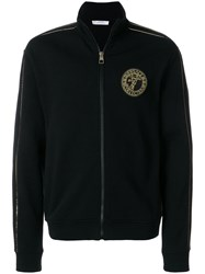 Versace Collection Zipped Cardigan Cotton Polyester Black
