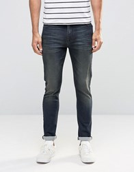 Asos Super Skinny Jeans In Dirty Blue Wash Dirty Blue