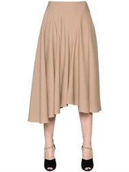 Nina Ricci Asymmetrical Light Wool Gabardine Skirt