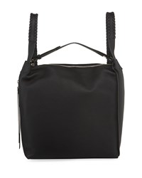 Allsaints Kita Leather Whipstitched Backpack Black