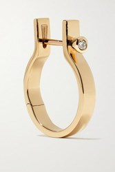 Hirotaka Indu Stria 10 Karat Gold Diamond Hoop Earring One Size