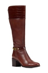 Geox Glynna Knee High Boot Brown Leather