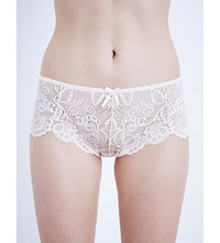 Panache Andorra Stretch Lace Short Briefs Pearl