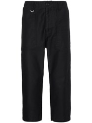 Sophnet. Straight Cropped Trousers Black