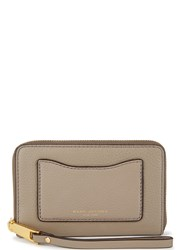 Marc Jacobs Recruit Taupe Leather Wallet Natural