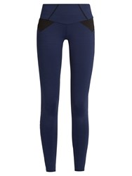 Track And Bliss Endless Motion Performance Leggings Black Navy