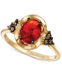 Le Vian Chocolatier Fire Opal 5 8 Ct. T.W. And Diamond 1 5 Ct. T.W. Ring In 14K Gold Orange