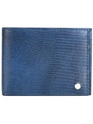 Orciani Billfold Wallet Blue