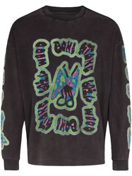 Liam Hodges Bswb Butterfly Long Sleeve T Shirt Grey