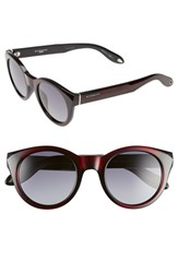 Women's Givenchy 49Mm Round Sunglasses Blue Mirror