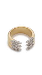 Rachel Zoe Sophia Dipped Pave Claw Ring Gold