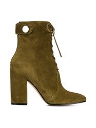 Gianvito Rossi Top Snap Fastening Boots Green