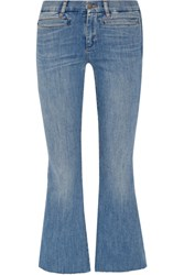 Mih Jeans M.I.H Marrakech Cropped Mid Rise Flared Mid Denim