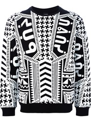 Ktz Tribal Print Sweatshirt Black