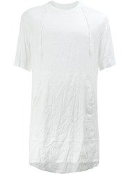 Lost And Found Ria Dunn Wrinkled T Shirt White