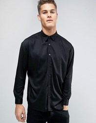 Another Influence Oversize Viscose Shirt Black