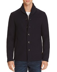 Scotch And Soda Shawl Collar Wool Blend Jacket Night Blue