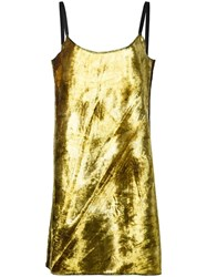 Eckhaus Latta Mini Slip Dress Metallic