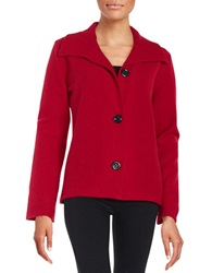 Nipon Boutique Wool Blazer Fire Red
