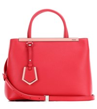Fendi 2Jours Petite Leather Tote Red
