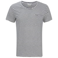 J. Lindeberg J.Lindeberg Men's Crew Neck Stripe T Shirt Off White
