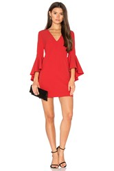 Milly Nicole Dress Red