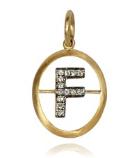 Annoushka Yellow Gold And Diamond Initial F Pendant