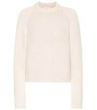 Chloe Wool And Cashmere Sweater White