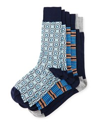 Men's Three Pair Sock Set Assorted Neiman Marcus
