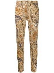 Etro Patterned Jeans Neutrals