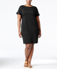 Karen Scott Plus Size T Shirt Dress Only At Macy's Deep Black