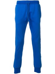 Les Artists Art Ists Logo Side Stripe Track Trousers Blue