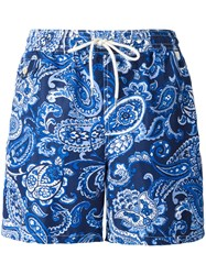 Polo Ralph Lauren Paisley Print Shorts Blue