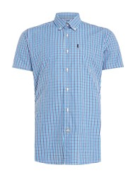 Barbour Men's Alston Gingham Short Sleeve Shirt Blue