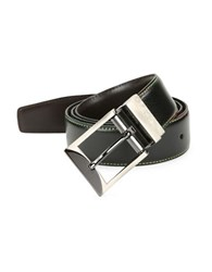 Tallia Orange Textured Leather Belt Black Dark Brown