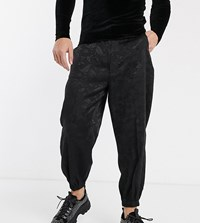 Heart And Dagger Paisley Skinny Smart Jogger In Black