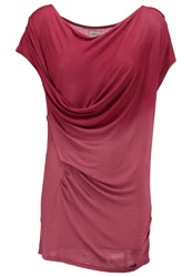 Khujo Tavi Basic Tshirt Berry Bordeaux