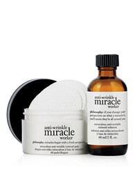 Philosophy Anti Wrinkle Miracle Worker Retinoid Pads And Solution Set No Color