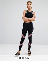 South Beach Mesh Insert Active Leggings Mink Beige