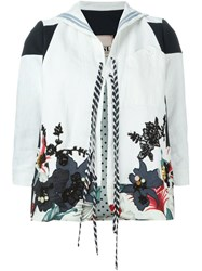 Antonio Marras Floral Embroidered Jacket White