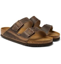 Birkenstock Arizona Oiled Nubuck Sandals Brown