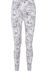 Varley Biona Floral Print Stretch Leggings White