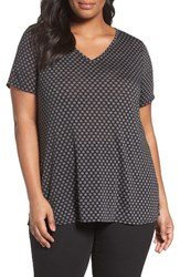 Sejour Plus Size Women's Polka Dot Tee