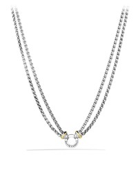 Double Wheat Chain Necklace With Gold David Yurman
