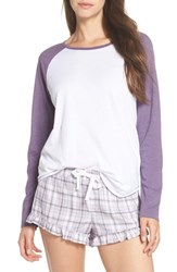 Ugg Charly Short Pajamas Lavender Aura Plaid